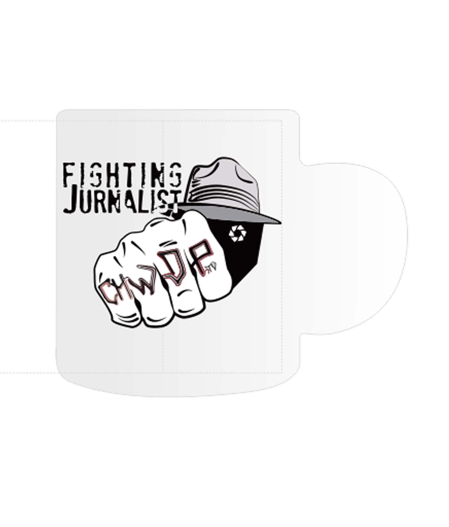 Kubek Fighting Jurnalist logo bez tła